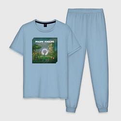 Пижама хлопковая мужская Imagine Dragons Origins цвета мягкое небо — фото 1