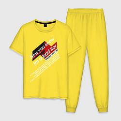 Пижама хлопковая мужская Imagine Dragons - Bad Liar цвета желтый — фото 1