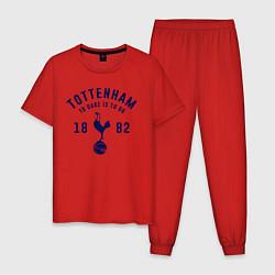 Пижама хлопковая мужская FC Tottenham 1882 цвета красный — фото 1