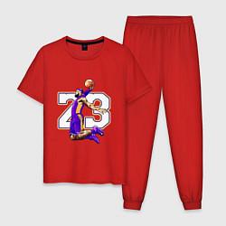Пижама хлопковая мужская Леброн Джеймс цвета красный — фото 1
