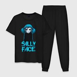 Пижама хлопковая мужская Sally Face цвета черный — фото 1
