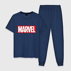 Пижама хлопковая мужская MARVEL цвета тёмно-синий — фото 1