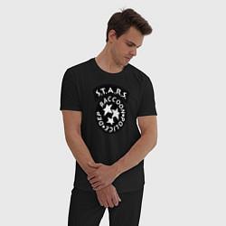 Пижама хлопковая мужская STARS RACCOON CITY цвета черный — фото 2