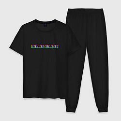 Пижама хлопковая мужская Billie Eilish цвета черный — фото 1