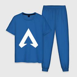 Пижама хлопковая мужская Apex Symbol цвета синий — фото 1