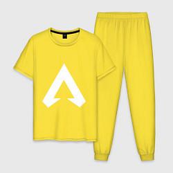 Пижама хлопковая мужская Apex Symbol цвета желтый — фото 1