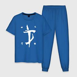 Пижама хлопковая мужская DOOM Slayer цвета синий — фото 1