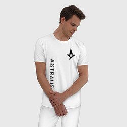 Пижама хлопковая мужская Astralis GG цвета белый — фото 2