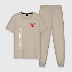 Пижама хлопковая мужская FaZe Clan: E-Sports цвета миндальный — фото 1