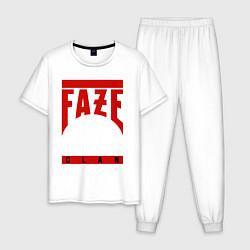 Пижама хлопковая мужская FaZe Clan цвета белый — фото 1