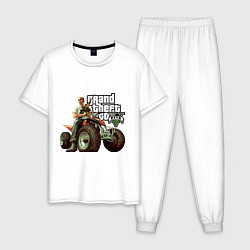 Пижама хлопковая мужская GTA 5: Trevor цвета белый — фото 1