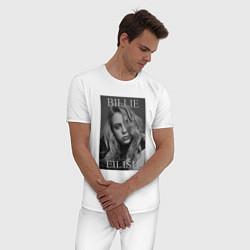 Пижама хлопковая мужская Billie Eilish цвета белый — фото 2