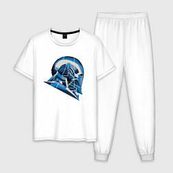 Пижама хлопковая мужская War Machine: Avengers цвета белый — фото 1