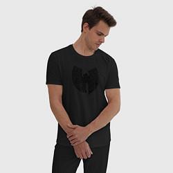 Пижама хлопковая мужская WU TANG CLAN цвета черный — фото 2