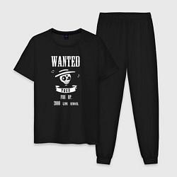 Пижама хлопковая мужская Wanted Poco цвета черный — фото 1
