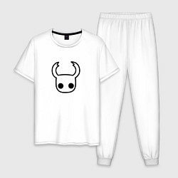 Пижама хлопковая мужская Hollow knight цвета белый — фото 1