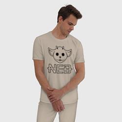 Пижама хлопковая мужская TOP: NED цвета миндальный — фото 2