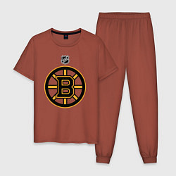 Пижама хлопковая мужская Boston Bruins NHL цвета кирпичный — фото 1