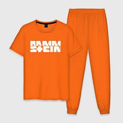 Пижама хлопковая мужская Rammstein цвета оранжевый — фото 1