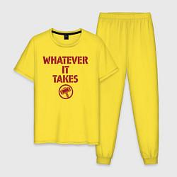 Пижама хлопковая мужская Whatever it takes Thor цвета желтый — фото 1