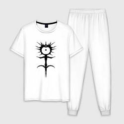 Пижама хлопковая мужская GHOSTEMANE цвета белый — фото 1