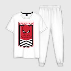 Пижама хлопковая мужская Sppider-Man цвета белый — фото 1