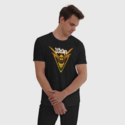 Пижама хлопковая мужская The Wasp цвета черный — фото 2