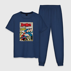 Пижама хлопковая мужская Ant-man comics цвета тёмно-синий — фото 1