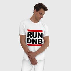 Пижама хлопковая мужская RUN DNB цвета белый — фото 2
