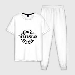 Пижама хлопковая мужская Made in Tatarstan цвета белый — фото 1