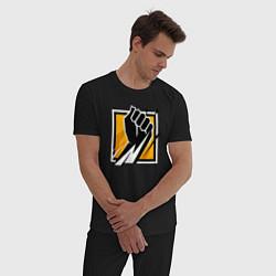 Пижама хлопковая мужская R6S FINKA цвета черный — фото 2