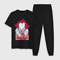Пижама хлопковая мужская IT цвета черный — фото 1