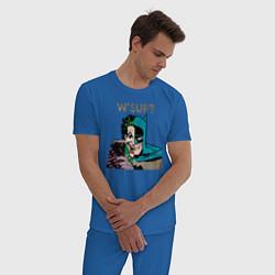 Пижама хлопковая мужская W'sup? цвета синий — фото 2