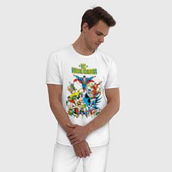 Пижама хлопковая мужская Justice League цвета белый — фото 2