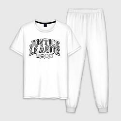 Пижама хлопковая мужская Justice League цвета белый — фото 1