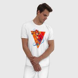 Пижама хлопковая мужская Flash, Justice League цвета белый — фото 2