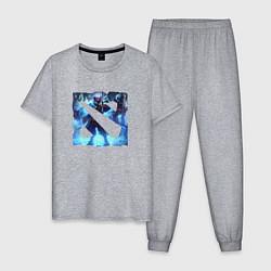 Пижама хлопковая мужская Dota 2 цвета меланж — фото 1