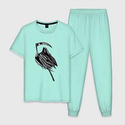 Пижама хлопковая мужская Жнец цвета мятный — фото 1