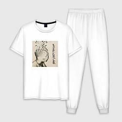 Пижама хлопковая мужская XXXTENTACION BAD VIBES FOREVER цвета белый — фото 1