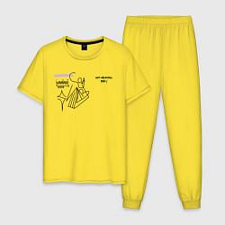 Пижама хлопковая мужская SAYONARA BOY цвета желтый — фото 1