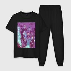Пижама хлопковая мужская DETROIT: BECOME HUMAN цвета черный — фото 1