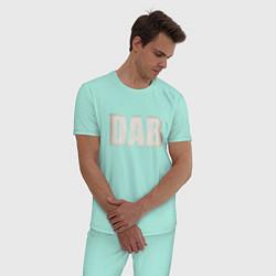 Пижама хлопковая мужская DAB цвета мятный — фото 2