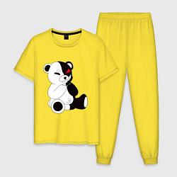 Пижама хлопковая мужская Monokuma цвета желтый — фото 1