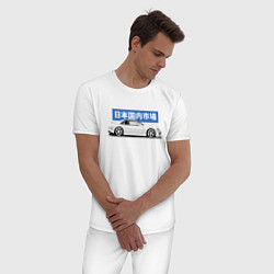 Пижама хлопковая мужская JDM Legend Nissan 300ZX цвета белый — фото 2
