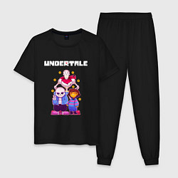 Пижама хлопковая мужская UNDERTALE цвета черный — фото 1