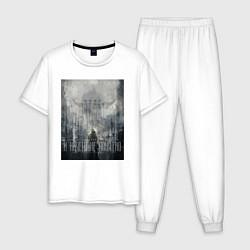 Пижама хлопковая мужская Игра в которой ничего не понятно цвета белый — фото 1