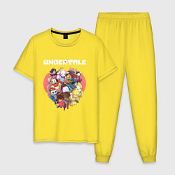 Пижама хлопковая мужская UNDERTALE цвета желтый — фото 1