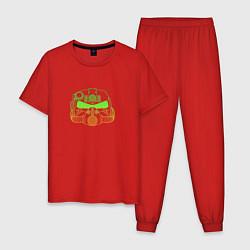 Пижама хлопковая мужская Fallout цвета красный — фото 1
