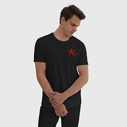 Пижама хлопковая мужская HOKAGE NARUTO НА СПИНЕ цвета черный — фото 2
