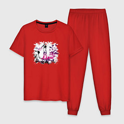 Пижама хлопковая мужская Three Days Grace цвета красный — фото 1